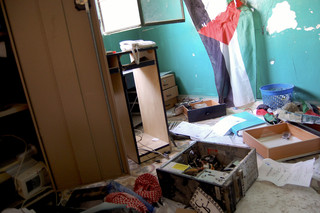 Scene of vandalized and ransacked office