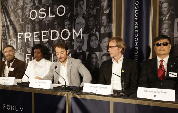 Panelists at Oslo Freedom Forum