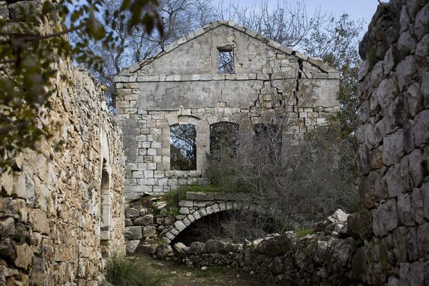 Photo shows stone ruins