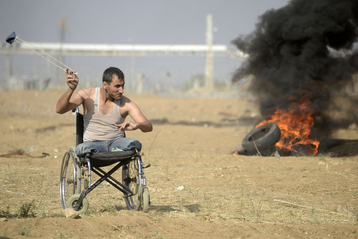 Protester in Gaza