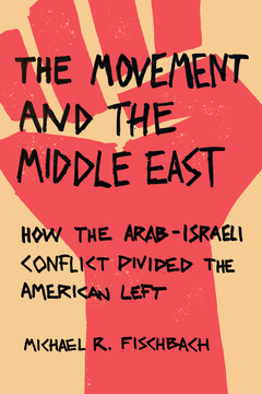 Cover of The Movement and the MIddle East book shows graphic of red fist
