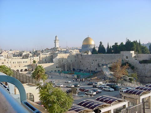 Rock and the western wall old city of jerusalem photo bill dienst