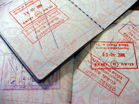 Two Passports No Entry Both Of My Marked By The Dreaded Red Stamp Maureen Clare Murphy