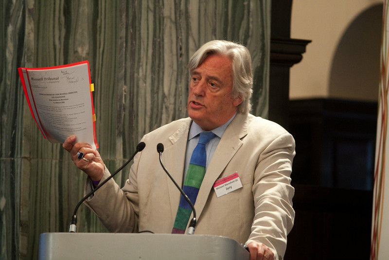 Michael Mansfield at a podium