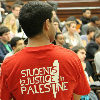 Activist at the first national conference of Students for Justice in Palestine (SJP)