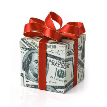 A gift of financial support