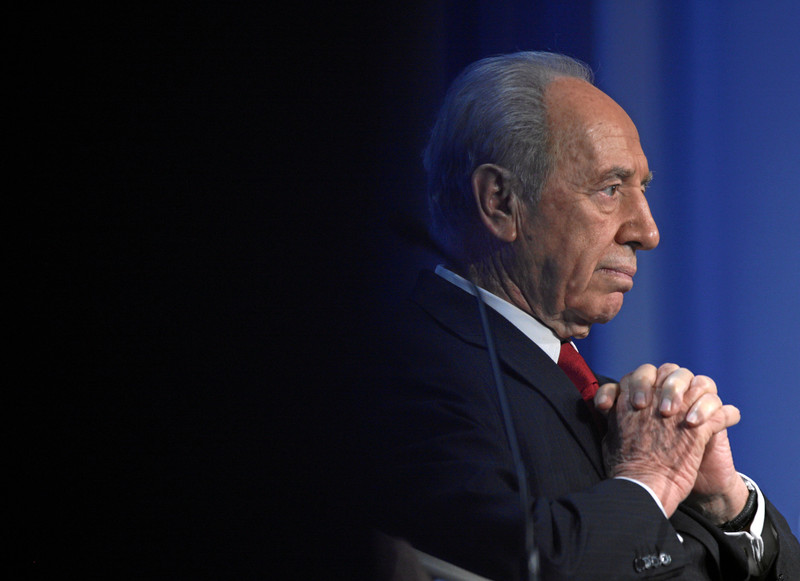 Close-up, profile portrait of Israeli president