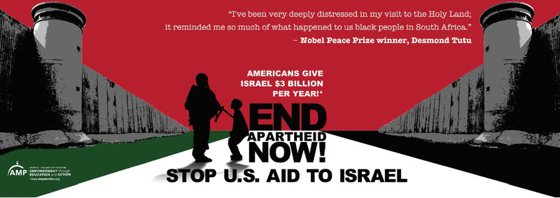 Bus advertisement by American Muslims for Palestine (AMP)