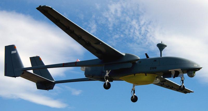 An Israeli-made Heron drone.