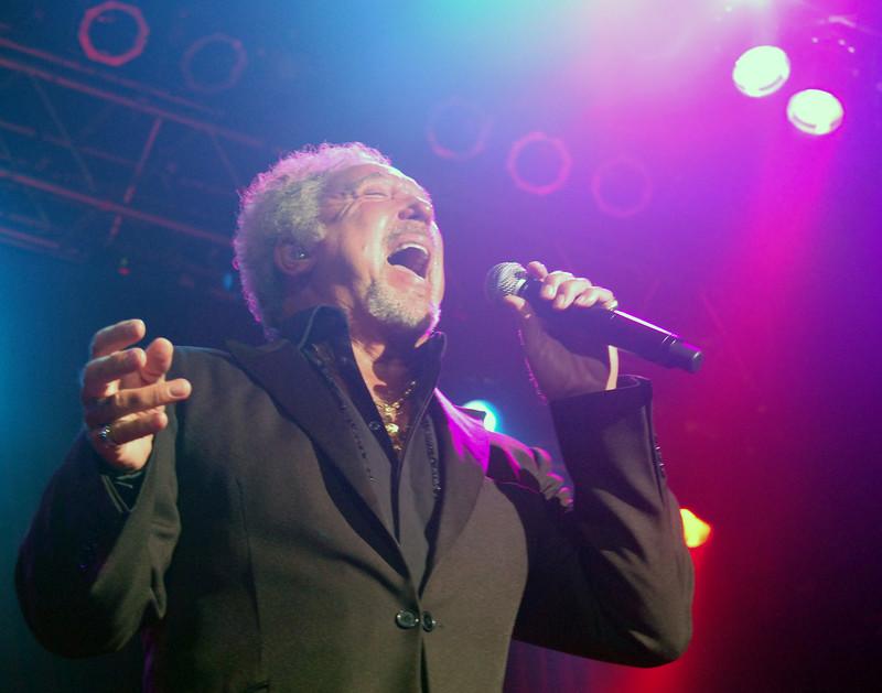 Tom Jones in concert.