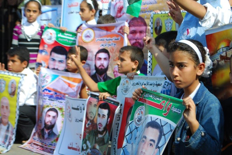 Supporters of Alaa Hammad keep a weekly vigil for Palestinian detainees in Gaza.