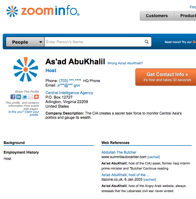 Debunked: the claim that As'ad AbuKhalil worked for the CIA