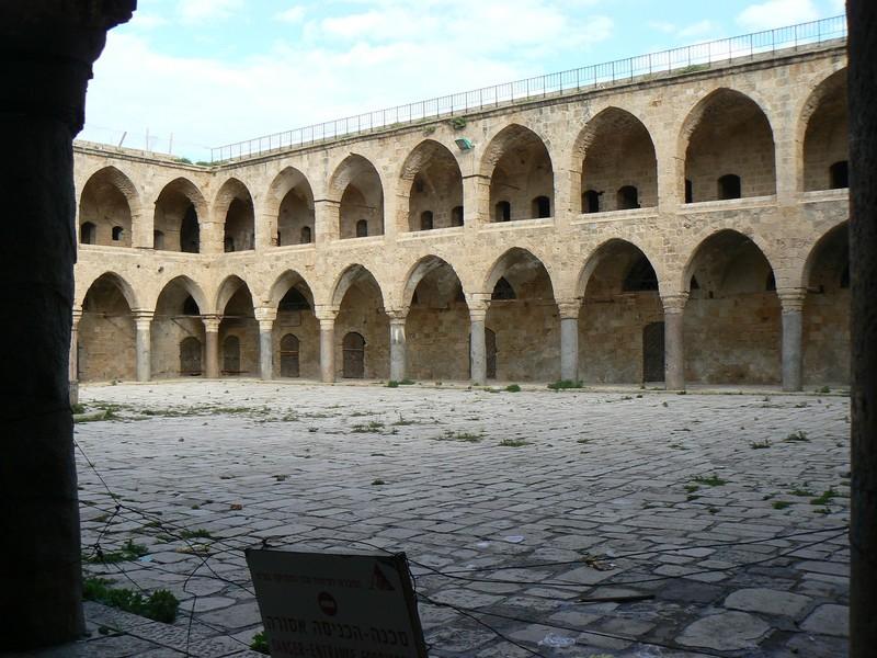 The Khan al-Umdan (Inn of the Pillars) in Akka, Palestine