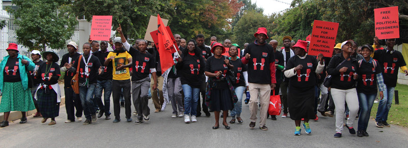 Activists march on the Johannesbourg offices of the Bill and Melinda Gates Foundation