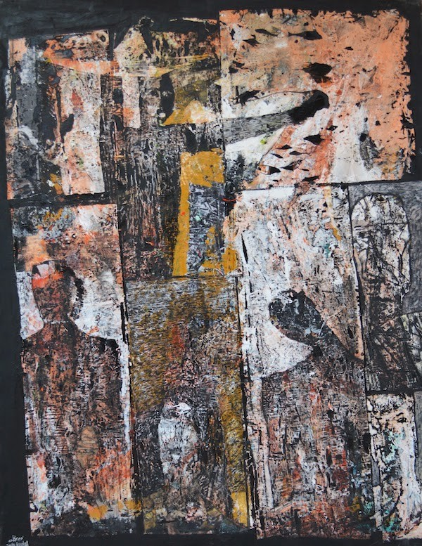 Tayseer Barakat - Distant Voices (2014, acrylic on canvas)