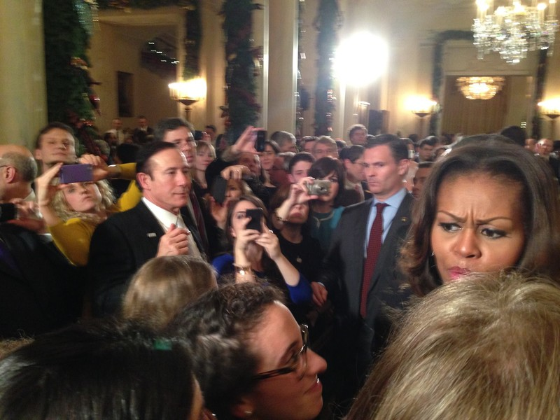 Adam Milstein at a White House function where Michelle Obama appears to avoid him