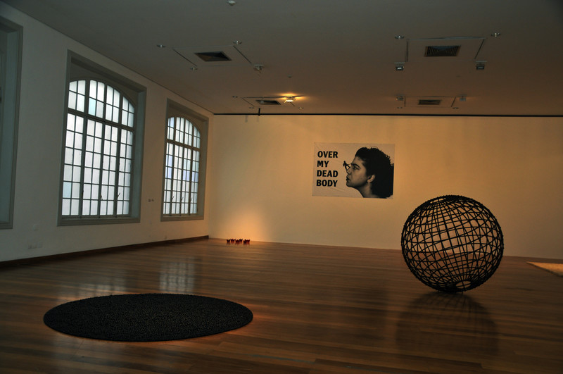 Mona Hatoum artworks at the Pinacoteca in Sao Paulo