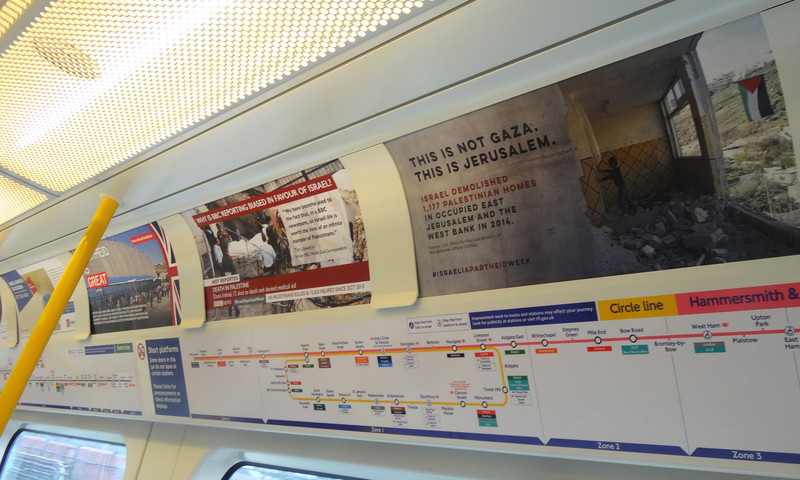 Israeli fury at unofficial ads on London Underground   The ...