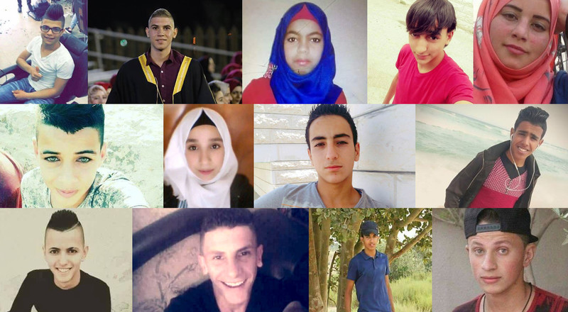 These are the Palestinian children Israel killed in 2017