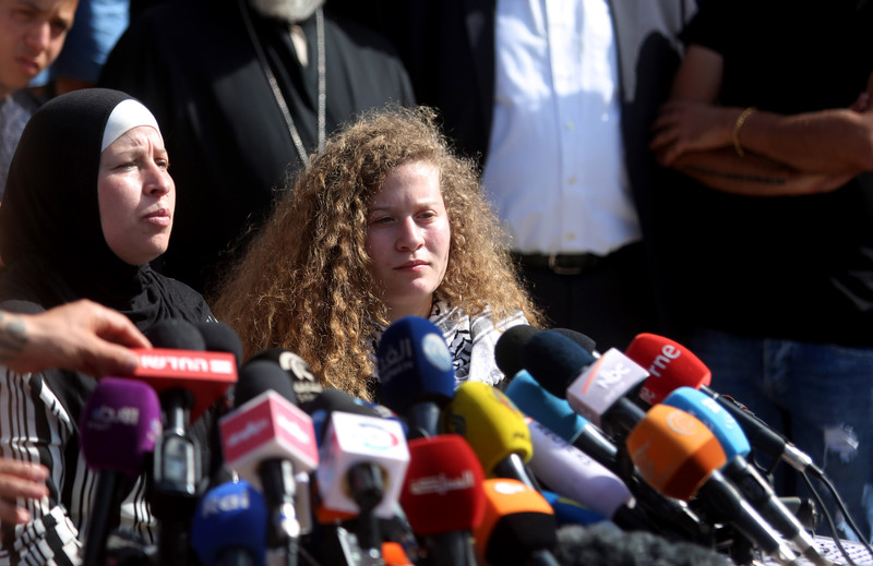 Palestinians celebrate release of Ahed Tamimi | The