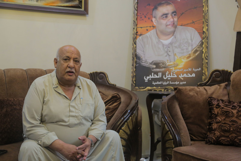 Image: Khalil el-Halabi is fighting relentlessly to secure his son's release. (Mohammed Al-Hajjar)