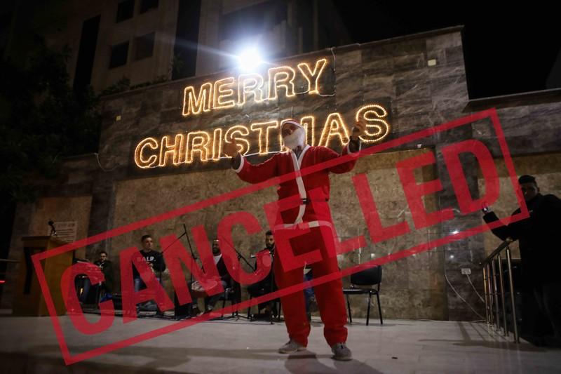 Santa Claus rings a bell
