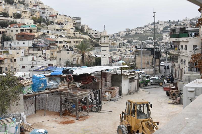 A general view over the East Jerusalem neighborhood of Batan al-HAwa