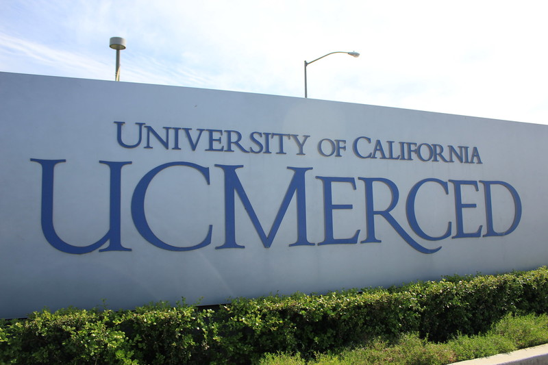 A sign in front of UC Merced