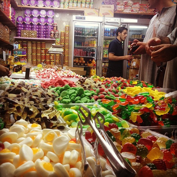 Stocking up on the jelly & gum supply for #ramadan #jerusalem #palestine on Instagram