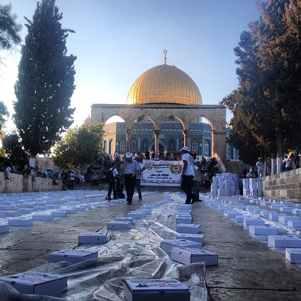#iftar (breaking of fast) today at #aqsa #palestine #ramadan on Instagram