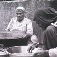 Palestinian village women working