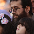 Khader Adnan with two of his children.