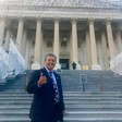 Congressman Juan Vargas gives thumbs up signal
