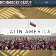 Screenshot from website of large rally beneath Venezuelan flag