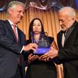 Man receives award