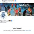 Screenshot of Belgian embassy's twitter page