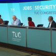 Four people sit on a TUC panel