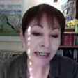 A woman talking into camera at a videoconference
