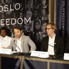 Panelists at Oslo Freedom Forum