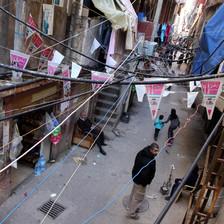 Scene of alley in Shatila refugee camp