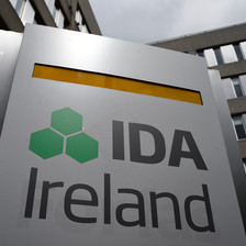 A sign reading IDA Ireland beside a building