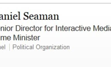 LinkedIn page of Israeli PR official Daniel Seaman