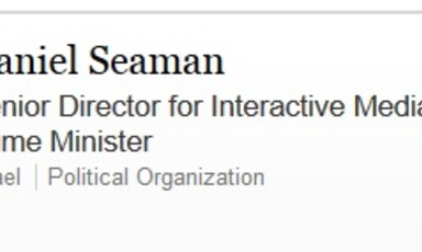 LinkedIn page of Israeli PR official Daniel Seaman