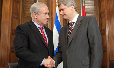 Benjamin Netanyahu and Stephen Harper.
