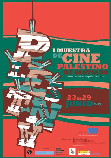 Poster for Palestine film festival in Santiago, Chile
