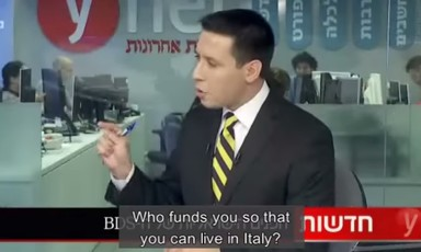 Ynet anchor demands to know who funds Ronnie Barkan's residence in Italy
