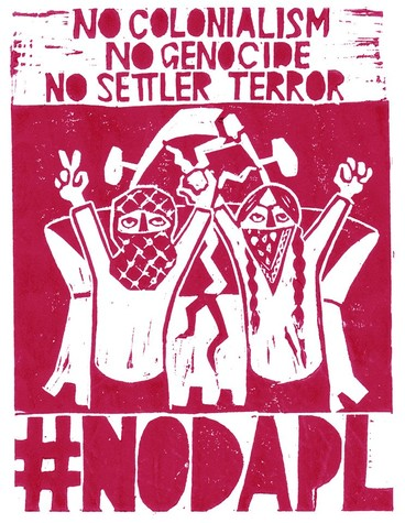 Print in solidarity with Standing Rock and the water protectors by Leila Abdelrazaq