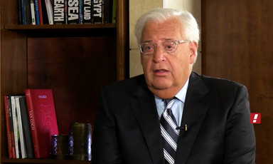 Screenshot of David Friedman seen from chest up
