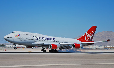 Photo of Virgin Atlantic jet sitting on an airport tarmac