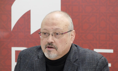 Portrait of Jamal Khashoggi.